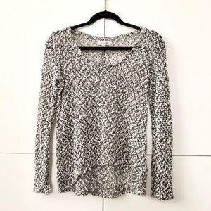 2/$25 Boucle knit salt and pepper top